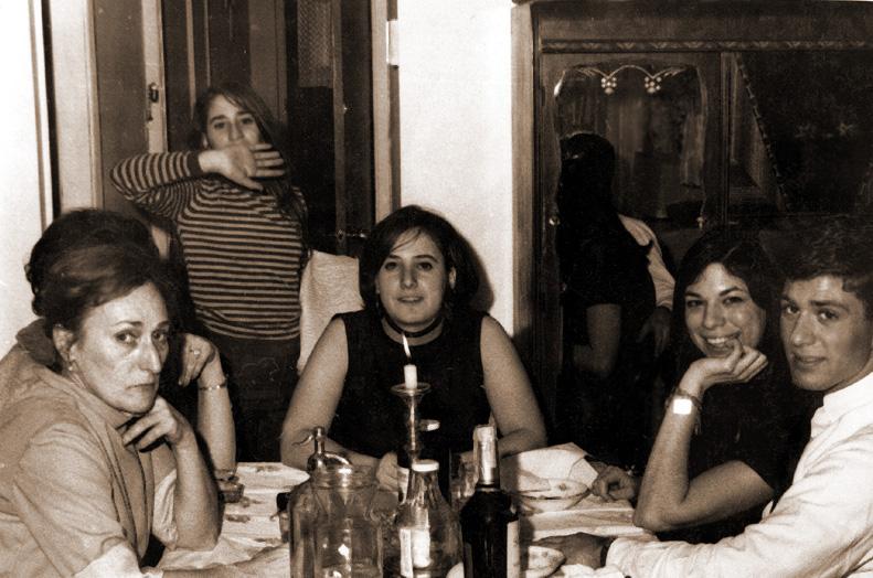L to R:  Julia Schwartz, Sheila Cooperman, Chippi Stock, Babette Rubin (Shelly's high school girlfriend), Shelly Schwartz  Photo taken at Grandma Rose's house in Flushing, NY