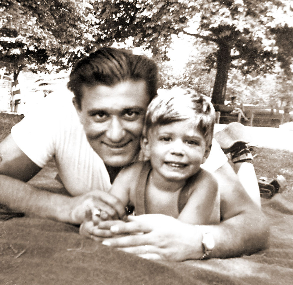 Lenny Schwartz with son, Shelly Schwartz at Bryant Park in Armonk, no longer there.