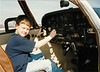 Derrick in pilot seat of my second plane, Cherokee Piper 140<br /> <br /> Instrument panel was completely overhauled and re-arranged in T configuration.