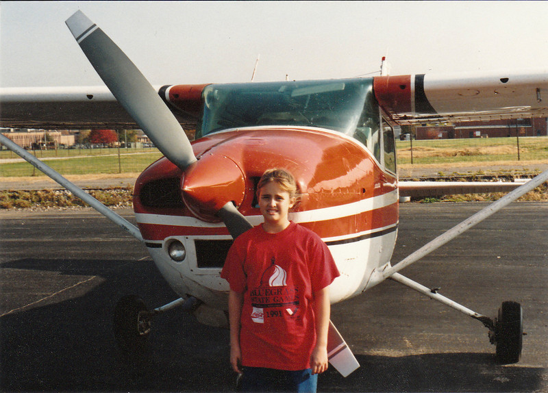 Krista and my first plane...Cessena 182
