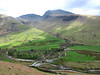 Scafell Pike & Scafell from climb up Yewbarrow