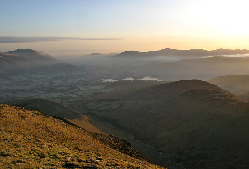 Keswick from Grisedale Pike