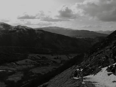 Looking down to Glen Nevis