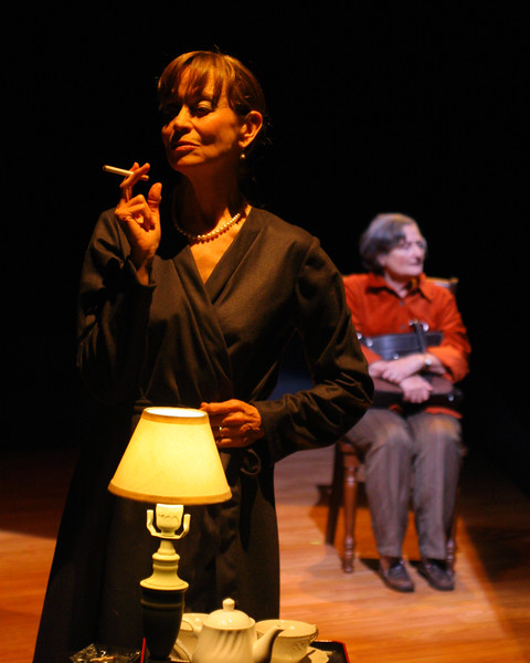 """Louise Larkin and Olive Kitteridge (""""Tulips"""")Nancy Shelby, Patricia Silver;  photo credit: Clayton Lord."""