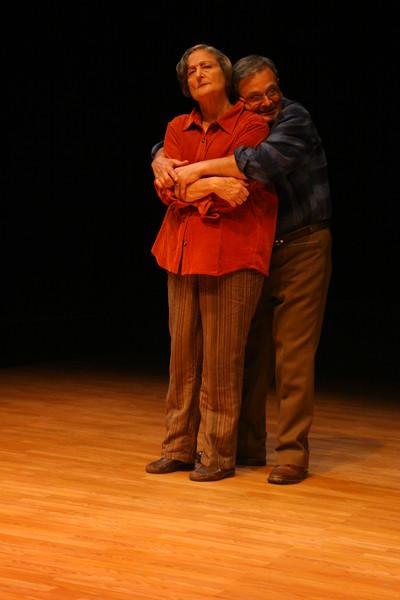 "Olive Kitteridge and her husband, Henry (""Tulips"")Patricia Silver, Paul Finocchiaro; photo credit: Clayton Lord."
