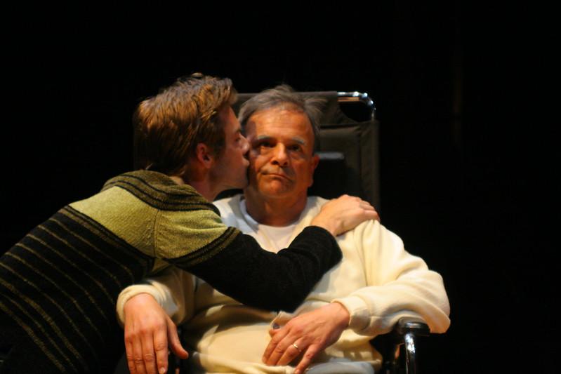 "Christopher Kitteridge visits his father, Henry (""Tulips"")Patrick Alparone, Paul Finocchiaro; photo credit: Clayton Lord."