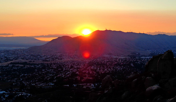 Olive Mountain Sunset Hike with Sierra Club, Moreno Valley CA October 4, 2018