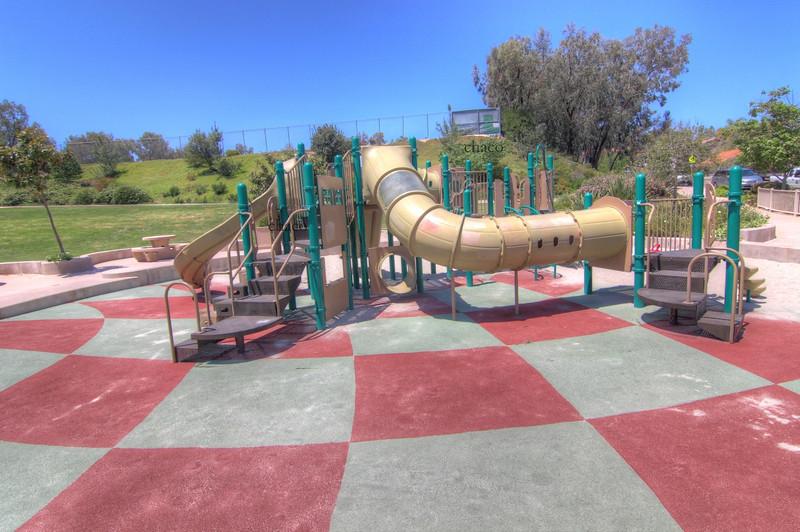 Sun Vista Park tube tunnel playground in Olivenhain a community in Encinitas Ca