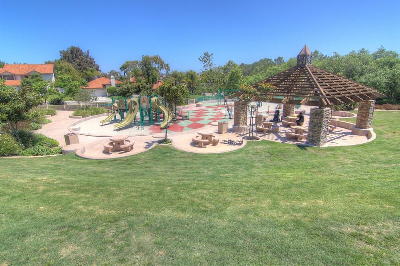 Sun Vista Park playground and picnic area in Olivenhain a community in Encinitas Ca