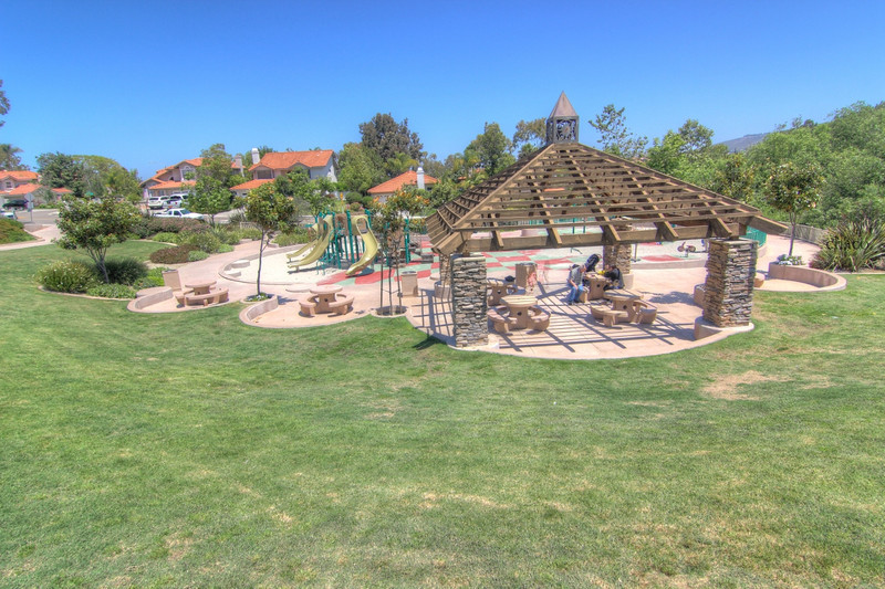 Sun Vista Park pergola and playground in Olivenhain a community in Encinitas Ca