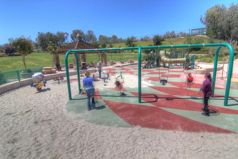 Sun Vista Park sings and playground in Olivenhain a community in Encinitas Ca
