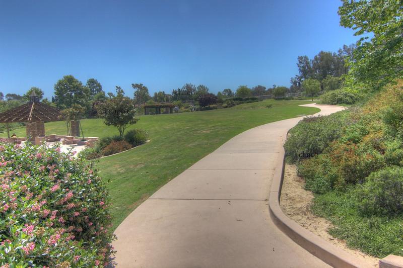 Sun Vista Park has sun kissed walkways in Olivenhain a community in Encinitas Ca