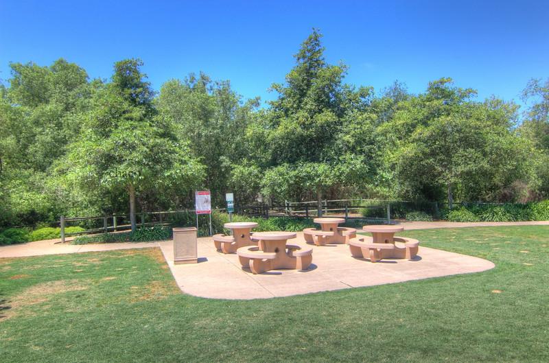 Sun Vista Park picnic tables in Olivenhain a community in Encinitas Ca
