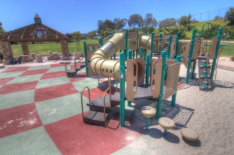 Sun Vista Park play structure and sand lot in Olivenhain a community in Encinitas Ca