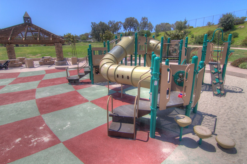 Sun Vista Park play structure in Olivenhain a community in Encinitas Ca