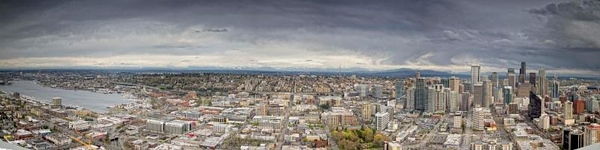 View East from Space Needle with downtown