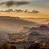 A Hazy Grand Canyon Sunset