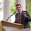 Josh Levs, a CNN broadcast journalist, delivers a lecture on Saturday, Jul. 1, at the Hall of Philosophy. Levs won a claim against Time Warner in 2013 for denying more than two weeks of paid paternity leave. The U.S.' economy is the only one with no guaranteed, paid parental leave for mothers or fathers. OLIVIA SUN/STAFF PHOTOGRAPHER
