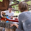 Andrew Skubisz, left, and Missy Whaley compose a song at Timothy's Playground on Friday, June 16, 2017. OLIVIA SUN/STAFF PHOTOGRAPHER