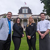 From left; food and beverage director Paul Sass, reservations supervisor Stacey Utegg, front desk supervisor Kate Lindstrom, and Executive Chef Edward Work are shown outside the Athenaeum Hotel Friday, June 23, 2017. OLIVIA SUN/STAFF PHOTOGRAPHER