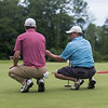 "Chris Kulinski, left, and Fred Pellerito on Monday, Jun. 26 at the Chautauqua Golf Club. Kulinski and Pellerito participated in the 6th annual ""Score One For The Lake"" Charity Pro-Am Golf Tournament, where all proceeds benefitted the Chautauqua Watershed Conservancy. OLIVIA SUN/STAFF PHOTOGRAPHER"