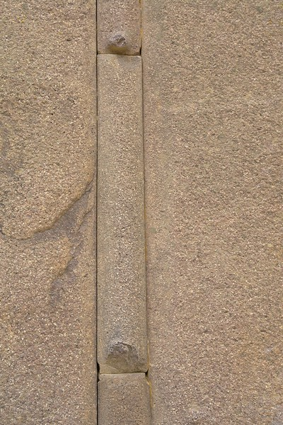 The filler stones with each having one embossing near its bottom.