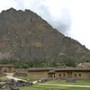 Ollantaytambo. Harvest storage facilities. The downslope wind helps to keep the quinoa, kiwicha and corn dry.