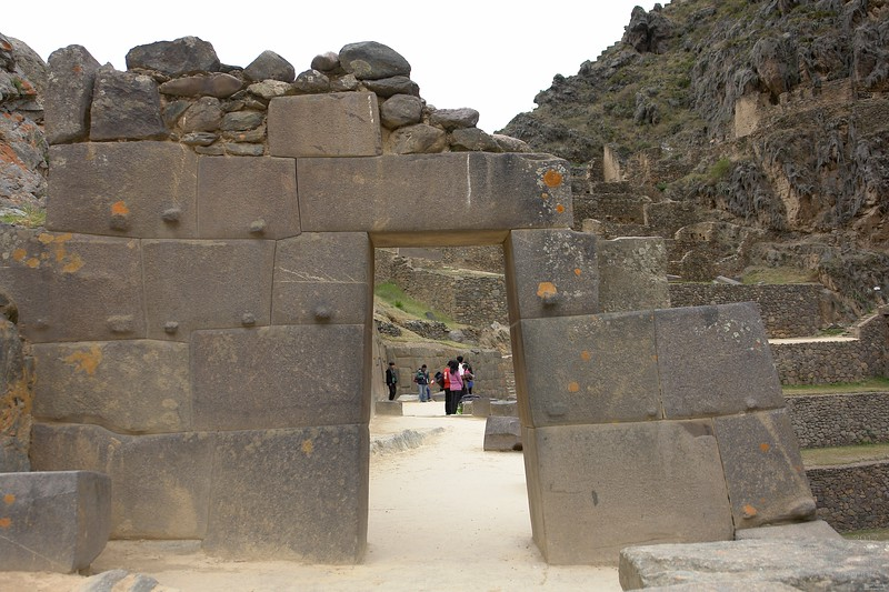 Different styles of constructions, but all looks like build during the same time, just different stone material. Ollantaytambo.