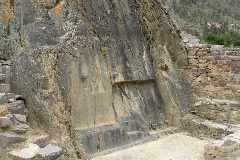 Shaped natural limestone rock.
