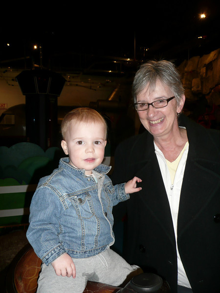 Archer & Grandma Becky at the Children's museum
