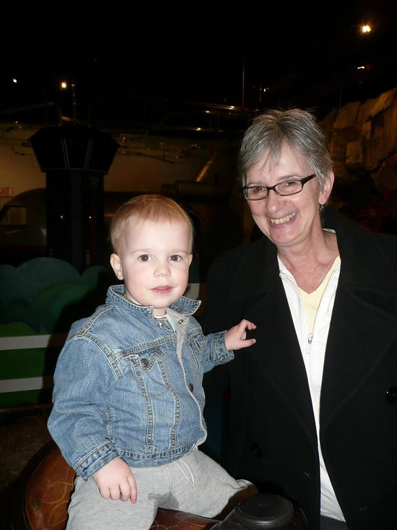 Archer & Grandma Becky at the Children's museum