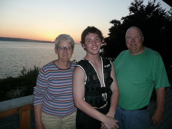 Arthur, Mary & Alex at the cabin