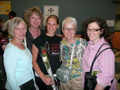 Arla, Cindi, Kira, Linda & Sara at the dance program.