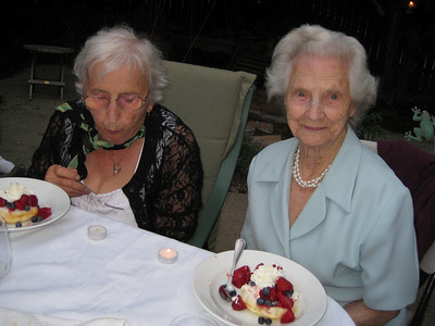 Norma's blowing out her candle!