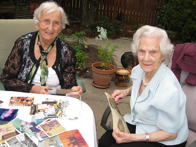 Norma & Aunt Rita looking at old photos!