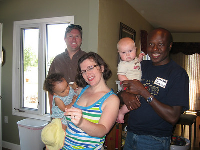 Luke Abar, Julius, Sara & Esther Temba and Will.