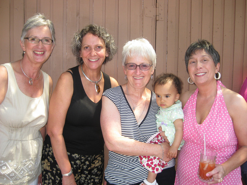Aunt Becky, Aunt Louise, Aunt Linda, Aunt Mary and Esther
