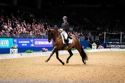 Joao Miguel Torrao & Equador FEI DRESSAGE WORLD CUP™ GRAND PRIX Olympia - The London International Horse Show Olympia, London, United Kingdom, GBR 16/12/19 - MANDARTORY Credit Sophie Harris/ SEH Photography  - NO UNAUTHERORISED USE - 07825091348