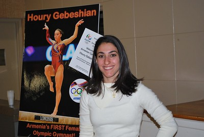 Olympic Gymnast Houry Gebeshian at Holy Trinity, October 2, 2016
