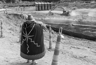 Lower Elwha Klallam Woman at Beginning of Dam Removal