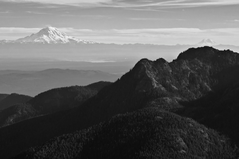 Mounts Rainer and Adams From Eastern Olympics
