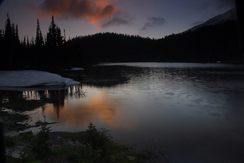 Sunset at Reflection Lake - Mt. Rainier National Park - Doug Beezley - July 2008