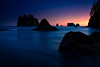 Sunset at Second Beach - Olympic National Park, Washington - Andrew Ehrlich - September 2008
