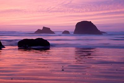 Ruby Beach, sunset