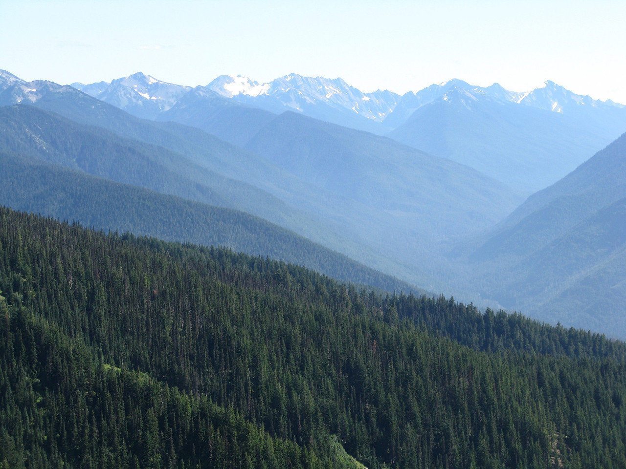 Beautiful and rugged valleys lie between the mountains.