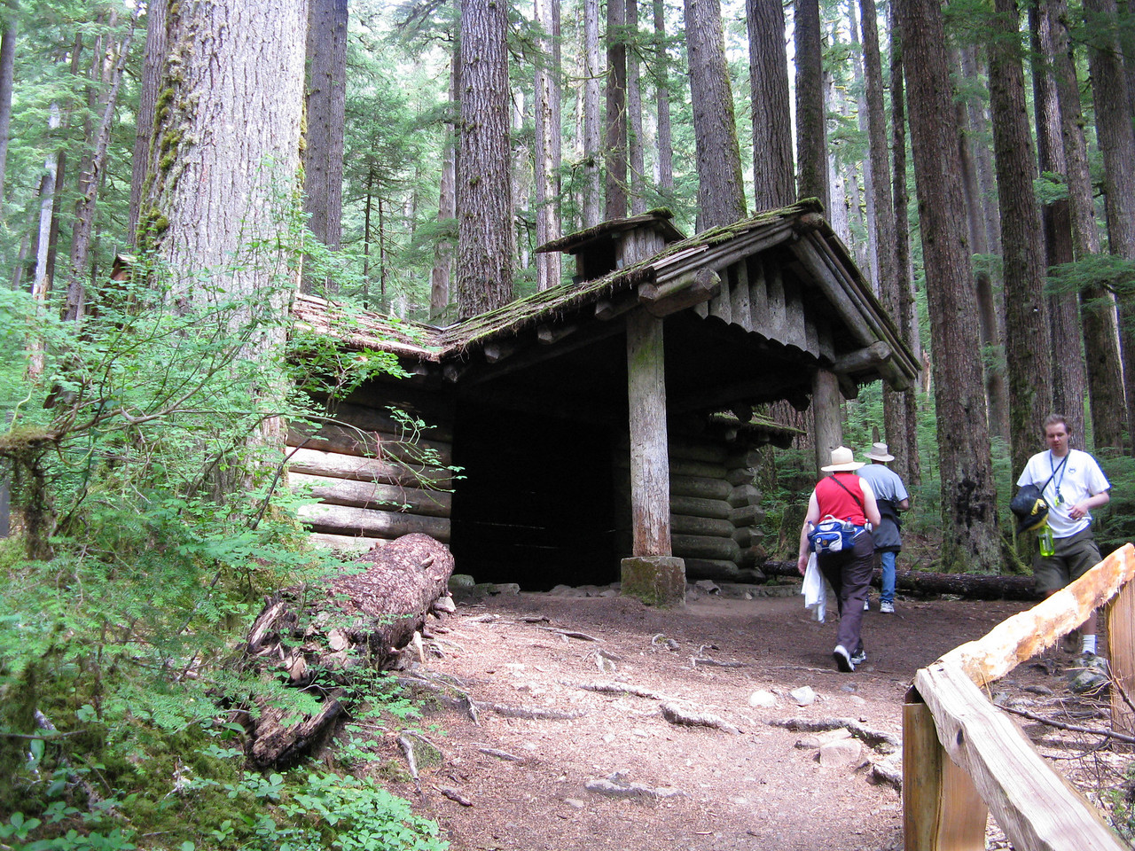 This is a back country shelter next to the trail not far from Sol Duc Falls.