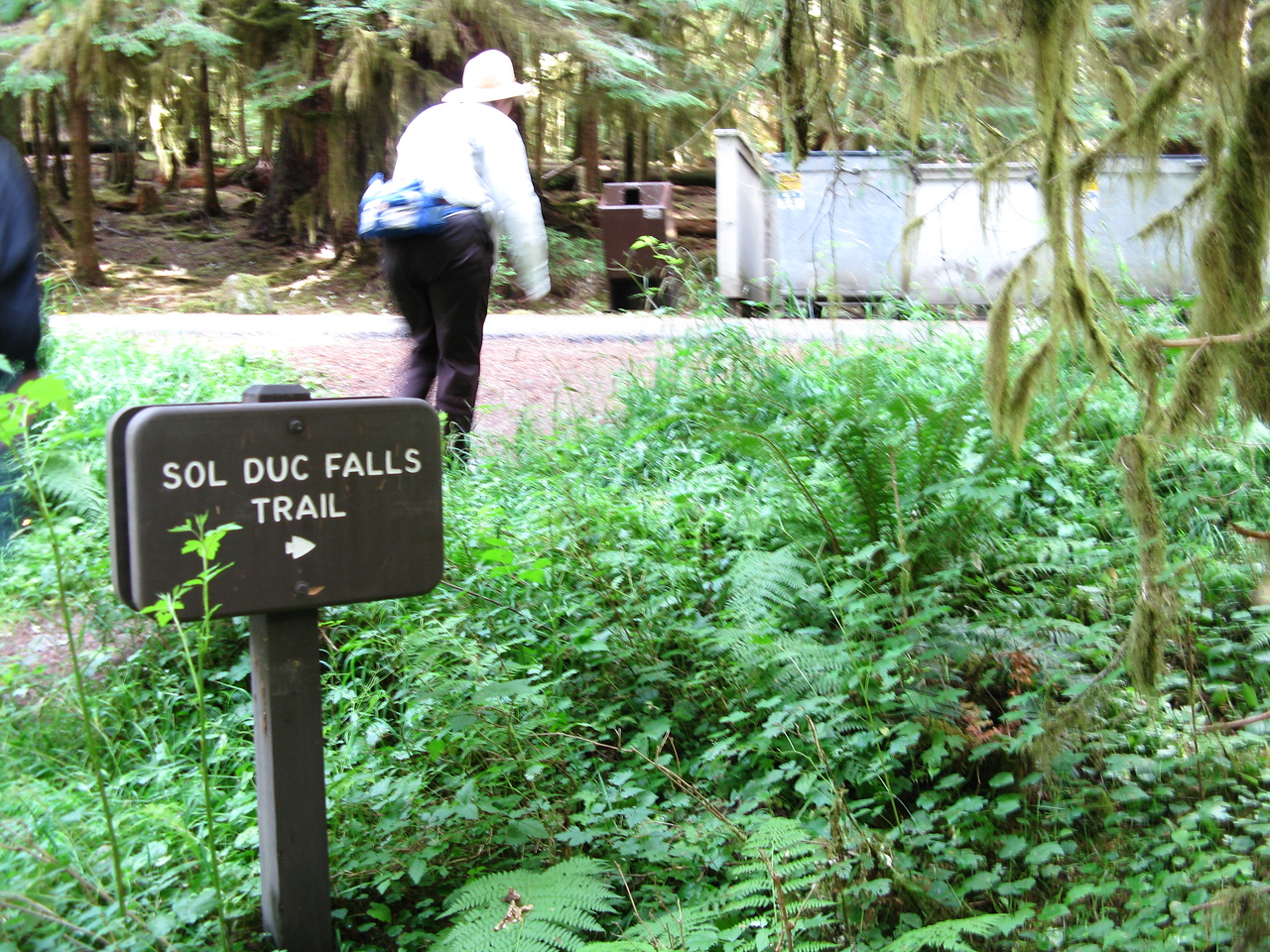 Martin, Mary, Nathan and Kevin trekked to Sol Duc Falls from Sol Duc Hot Spring Resort.  The round trip was 10 kilometers.  This volkswalk is a seasonal event sponsored by the Olympic Peninsula Explorers Volkssporting Club from Port Angeles.