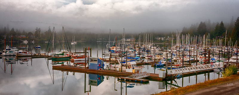 Morning at Port Ludlow Marina, Port Ludlow, Washington