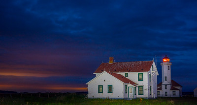 Point Wilson Lighthouse after sunset