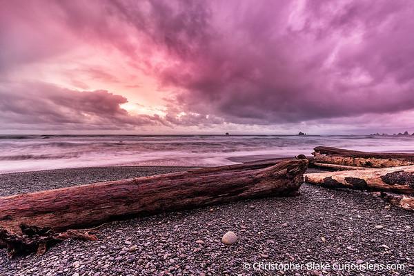 Rialto Beach Pink Sky